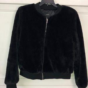 BOMBER jacket,like new,super soft and warm